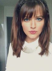 Short Hairstyles For Thick Hair, Short Straight Hair, Short Hair With Bangs, Thick Hair Bangs, Long Bangs, Bangs Medium Hair, Hairstyle For Medium Length Hair, Medium Length Hair With Layers Straight, Medium Haircuts With Bangs