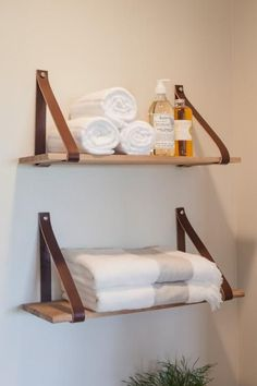 Loving the natural look of these shelves