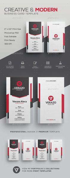 Creative & Modern Business Card Template - Corporate #Business #Cards Download here: https://graphicriver.net/item/creative-modern-business-card-template/19611615?ref=alena994