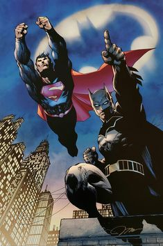 Jim Lee Signed Batman Superman Heroes Unite DC Giclee on Paper Limited Edition of 250 for the 80th Anniversary