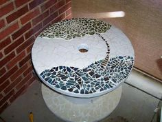 Mosaic Cable Spool Table Thingie -
