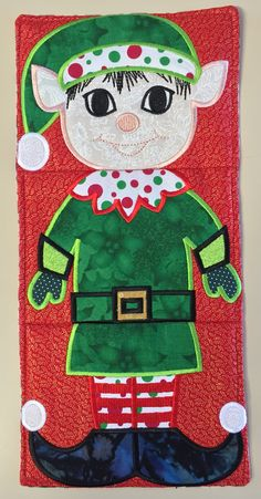 Elf Table Runner/Wall Hanging  ELF 01