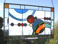 Stained Glass Window Panel--Galaxy. $249.00, via Etsy.