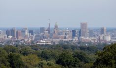 A shot of Baltimore city taken from the cupola atop Mount de Sales Academy. A Catholic all-girls High School in Catonsville, Md. ~ (Image: Jon Sham/BSMG)