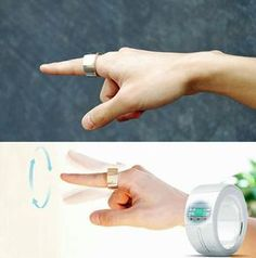 With Ring, you can write text messages simply by drawing in the air.