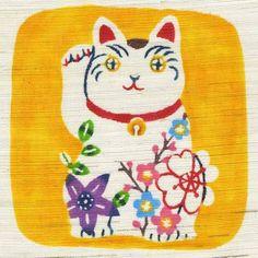 紅型絵柄3(干支など)|コジーサの画帖 Neko Cat, Maneki Neko, Crazy Cat Lady, Crazy Cats, Okinawa Tattoo, Chats Image, Frida Art, Japan Design, Animal Sculptures