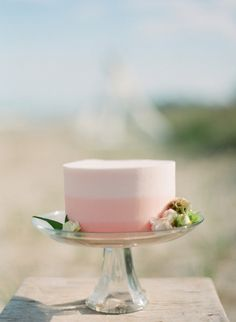 #ombre wedding #cake by http://www.flourgirlpatissier.com,  Photography by meetthemccartneys.com  Read more - http://www.stylemepretty.com/2013/09/17/door-county-photo-shoot-from-the-mccartneys-photography/
