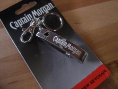 Captain Morgan Bottle Opener Keychain -Stainless Steel w/Clip by Captain Morgan Rum Company. $11.95. Great Gift or Collectors Item. Official Crew Liscensed Merchandise. Includes Keyring and Handy Clip. Heavy Duty Stainless Steel Bottle Opener. 1- New In Factory Packaging Captain Morgan Heavy Duty Stainless Steel Bottle Opener