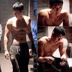 Kim Hyun Joong looked almost 'unbreakable' with his hardcore abs for KBS 2TV's 'Generation of Youth'!  Read more: http://www.allkpop.com/article/2014/01/kim-hyun-joong-shows-off-his-fighter-figure-in-shirtless-still-cuts-for-generation-of-youth#ixzz2qNnp7r3m  Follow us: @allkpop on Twitter | allkpop on Facebook