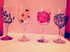 Buy your cute design wine glasses! DIY Hand crafted in many colors and designs! Sara Rodgers Artwork WWW.SARARODGERSARTWORK.WEEBLY.COM