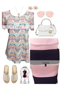"""""""LuLaRoe Classic T with a LuLaRoe Cassie"""" by lularoemilyboyas on Polyvore featuring Mint Velvet, Gentle Monster, Michael Kors, NAKAMOL and Luna Skye"""
