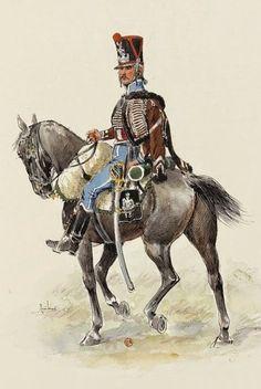 Furiere della compagnia di élite del 3 rgt. ussari francesi