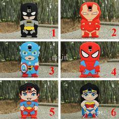 Wholesale S4 I9500 - Buy Cartoon Ironman Captain America SpiderMan Superman BatMan Superhero Silicone Case For Samsung Galaxy S3 S4 S5 Note 2 3 IPhone 6 6G Plus, $1.99 | DHgate