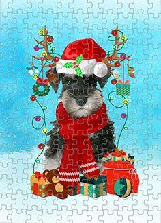 Schnauzer Dog in Snow Jigsaw Puzzle, Christmas, 1000 Pieces Jigsaw Puzzle PrintYmotion #Schnauzer #Dog Lovers gift #Christmas Gift #Christmas Puzzle Lovers Gift, Gift For Lover, Dog Lovers, Christmas Puzzle, Christmas Ornaments, Love Challenge, Schnauzer Dogs, Snow Dogs, Metal Tins