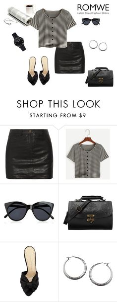 """""""Cute shirt"""" by margaretkellogg on Polyvore featuring Sara Berman, Le Specs and Charlotte Olympia"""