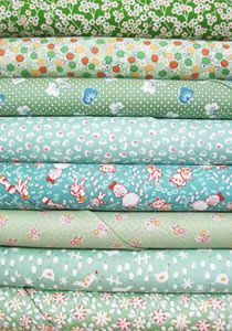 1930's Reproduction Fabric Bundle - Green