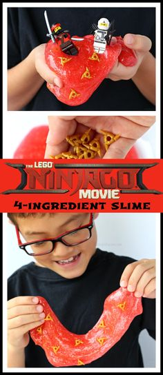Easy 4-Ingredient LEGO NINJAGO Movie Slime | perfect kids activity or party idea for your LEGO child – Raising Whasians #LEGONINJAGOmovie #ad