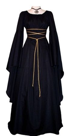 New Women Fashion Vintage Style Women Medieval Dress Gothic Dress Floor Length Women Cosplay Dress Retro Dress Long Dress Renaissance Costume, Renaissance Clothing, Diy Medieval Costume, Cosplay Dress, Costume Dress, Gothic Mode, Medieval Gown, Simple Medieval Dress, Medieval Dress Pattern