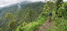 Biking on a ridge in Bali. It's not all adrenaline and power. #Bali #biking