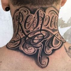 Trendy tattoo designs back of neck Ideas Bild Tattoos, Dope Tattoos, Badass Tattoos, Trendy Tattoos, Diy Tattoo, Tattoo Son, Tattoo Ideas, Tattoo Lettering Styles, Chicano Lettering