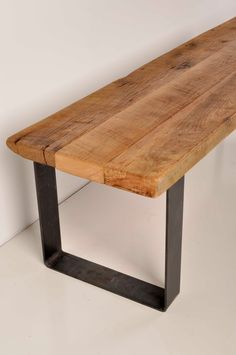 Reclaimed Barn Wood And Industrial Metal Bench