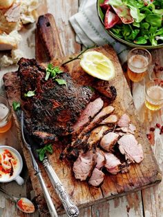 Best Roast Leg of Lamb Lamb Recipes Jamie Oliver Recipes mint sauce Small Food Processor, Food Processor Recipes, Roast Lamb Leg, Best Roast Lamb, Mint Sauce, Good Roasts, Lamb Dishes, Cooking Recipes, Barbecue