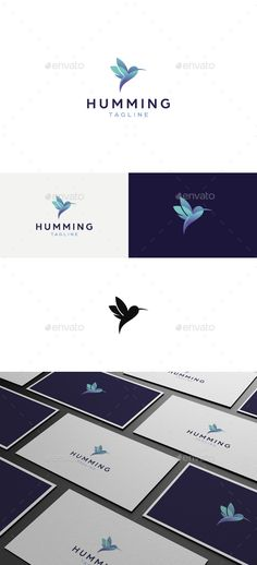 Hummingbird Logo — Vector EPS #bird #she • Available here → https://graphicriver.net/item/hummingbird-logo/17793204?ref=pxcr