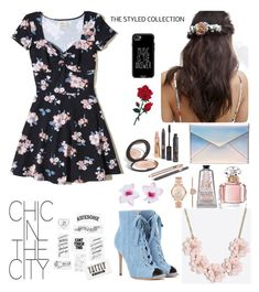 """""""pretty girl"""" by miss-yuna ❤ liked on Polyvore featuring Hollister Co., Gianvito Rossi, Rebecca Minkoff, Guerlain, J.Crew, Michael Kors, Her Curious Nature, Tattly, Casetify and Accessorize"""