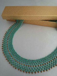 Image gallery – Page 130463720440859816 – Artofit Bead Jewellery, Seed Bead Jewelry, Seed Bead Necklace, Jewelery, Beaded Necklace Patterns, Lace Necklace, Necklace Designs, Handmade Beads, Handmade Jewelry