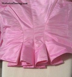 How to do pleats on the back of a bustle bodice