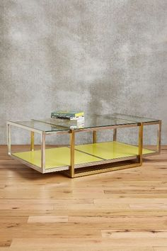 Floating Lacquered Coffee Table #anthrofave