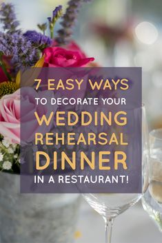 When hosting wedding rehearsal dinners at Blue Plate, we are often surprised by how many couples ditch their decoration theme. Here are 7 Easy Ways to Decorate Your Rehearsal Dinner at a Restaurant! (Be sure you check out It's my favorite.