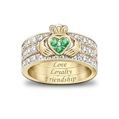 The claddagh brings you joined hands for friendship, a heart for love and a crown for loyalty... Love this, it is so beautiful!