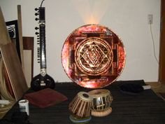 Sri Yantra High End Copper Light Mandala