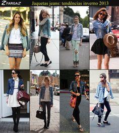Escuras, clarinhas, curtinhas ou mais longas. Veja as tendências de jaquetas jeans para o inverno 2013!