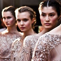 From swarovski - Swarovski crystal dusts the dresses backstage at @eliesaabworld's FW'12 collection. Go behind the scenes of fashion's top shows inside our anniversary book #Swarovski120