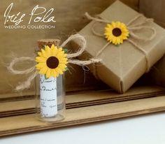 Secret message, Bottle, Bridesmaid, Sunflower, Barn Wedding, Daisy, Wedding, Favor, ECO, Paper Kraft, Origami Box, Will you be my Bridesmaid