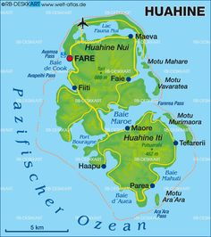 Map of the world showing the location of Tahiti | Bora Bora in 2019 ...