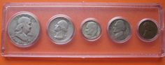 1951 US Coin Year Set 5 Coins 90% Silver - http://coins.goshoppins.com/us-coins/1951-us-coin-year-set-5-coins-90-silver/