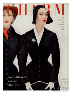 Charm magazine cover October 1952 - art directed by Cipe Pineles.