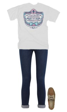 """""""going to the mall rn"""" by morgantaylor37 ❤ liked on Polyvore featuring Frame Denim and Sperry Top-Sider"""