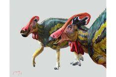 Tlatolophus galorum. Credit: Luis V. Rey / <i>Cretaceous Research</i> (2021). DOI: 10.1016/j.cretres.2021.104884 Dinosaure Herbivore, Giant Dinosaur, Anthropologie, Archaeology News, Mesoamerican, Prehistoric Creatures, Jurassic Park, Reptiles, Utah