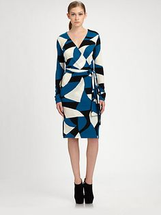 Diane von Furstenberg - Richley Wrap Sweaterdress - Saks.com
