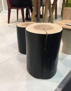 Solid Black Cedar Wood Stools