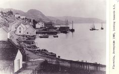 Placentia, Jerseyside, looking towards the north-east Date: 1900 Location: Placentia, Newfoundland Beautiful Islands, Beautiful Places, Newfoundland And Labrador, Town House, Salt And Water, Canada Travel, The Rock, Bottles, Scenery