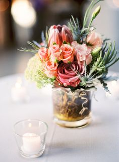 Long Island City Wedding from Trent Bailey Photography Simple Wedding Centerpieces, Centerpiece Decorations, Reception Decorations, Table Centerpieces, Centerpiece Flowers, Centrepieces, Reception Ideas, Wedding Bouquets, Wedding Flowers