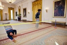Jimmy Fallon Hanging With Michelle Obama Jimmy fallon and michelle obama running through an obstacle course in the white house