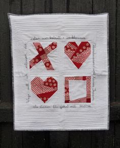materials and method: first there was a paper-pieced heart.
