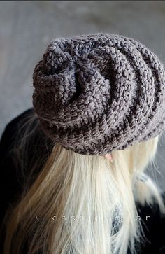 The Swirl Beanie Hat With and Without Visor pattern by Diane Serviss