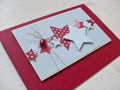 ...fällt mir spontan zu den Karten ein. Ich liebe Sterne!!                                   Einen schönen Freitag wünsch ich euch und einen...